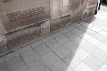 Là où se tenait Gavrilo Princip quand il a tiré