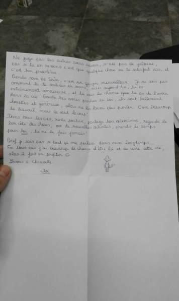 Ma lettre à moi-même partie 2